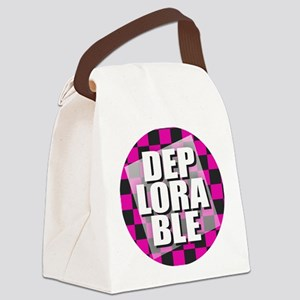 Deplorable - Pink Canvas Lunch Bag