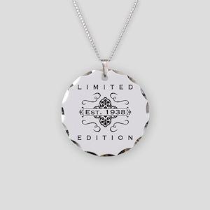 Est. 1938 Birth Year Necklace Circle Charm