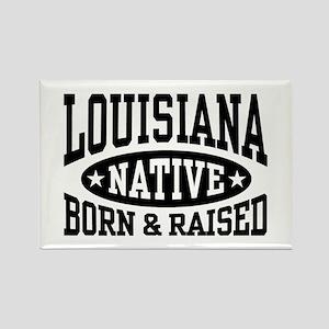 Louisiana Native Rectangle Magnet