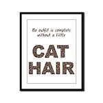 Cat Hair Framed Panel Print