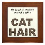 Cat Hair Framed Tile