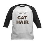 Cat Hair Kids Baseball Jersey