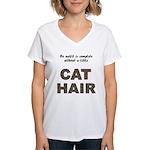 Cat Hair Women's V-Neck T-Shirt