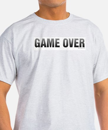 Game Over Ash Grey T-Shirt