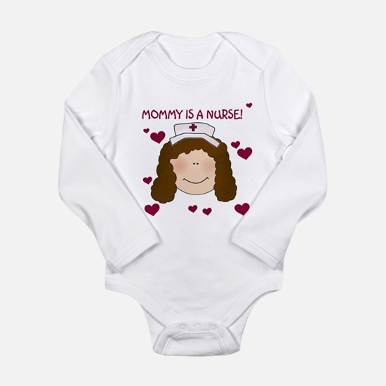 Mommy Nurse Brunette Infant Bodysuit Body Suit