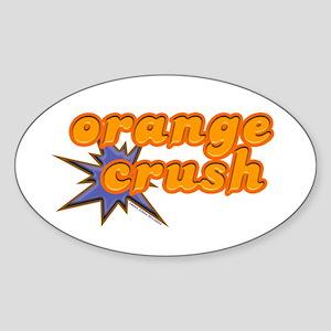Orange Crush Oval Sticker