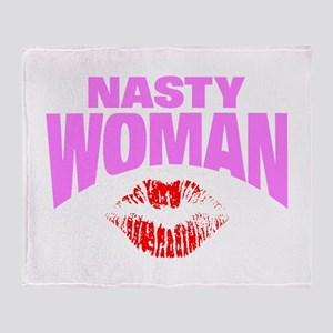 Nasty Woman Throw Blanket