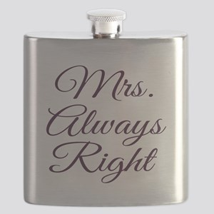 Mrs Always Right Flask
