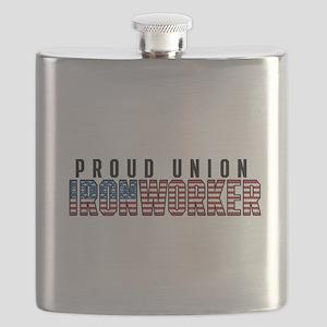 Union Ironworker Flask