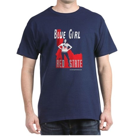 Blue Girl, Red State (Idaho) Dark T-Shirt