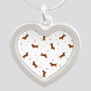 Dachshund Pattern - Hearts Necklaces
