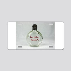 Love potion perfume bottle Aluminum License Plate