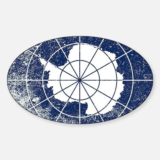 Cute Antarctica Sticker (Oval)