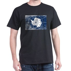 Flag of Antarctica Grunge T-Shirt