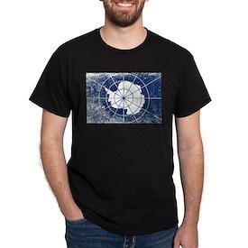 Flag of Antarctica Grunge T-Shirt
