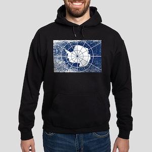 Flag of Antarctica Grunge Hoodie (dark)