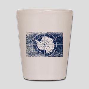 Flag of Antarctica Grunge Shot Glass