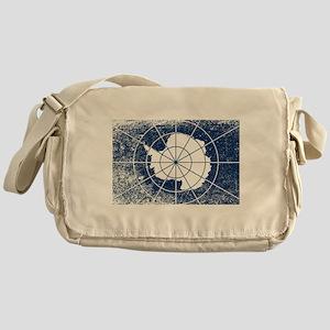Flag of Antarctica Grunge Messenger Bag