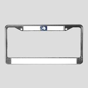 Flag of Antarctica Grunge License Plate Frame