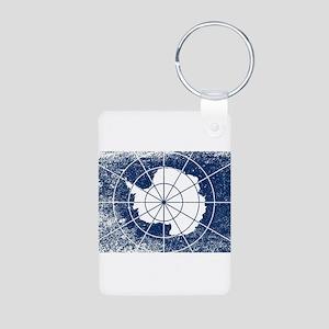 Flag of Antarctica Grunge Keychains