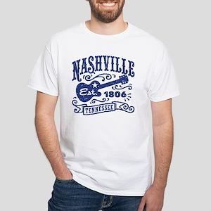 Nashville Tennessee White T-Shirt