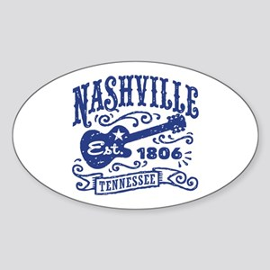 Nashville Tennessee Sticker (Oval)