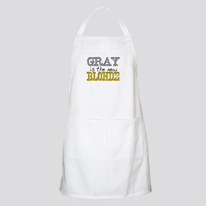 Gray is the new Blonde BBQ Apron