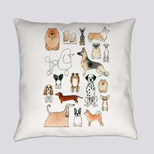 Dogs Everyday Pillow