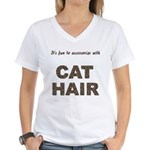 Accessorize With Cat Hair Women's V-Neck T-Shirt