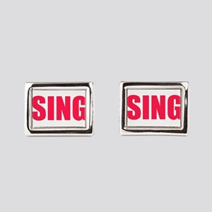 Sing Rectangular Cufflinks