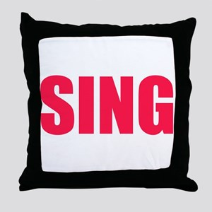Sing Throw Pillow