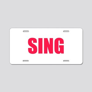 Sing Aluminum License Plate