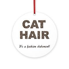 Cat Hair Fashion Ornament (Round)
