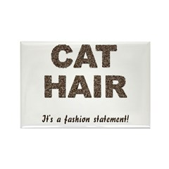 Cat Hair Fashion Rectangle Magnet