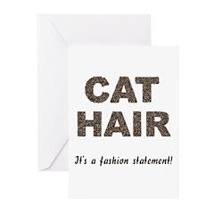 Cat Hair Fashion Greeting Cards (Pk of 20)