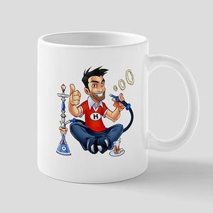 Smiling Hookah Mascot Mugs