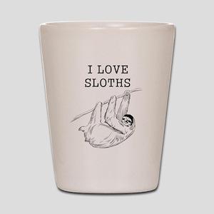 I Love Sloths Shot Glass