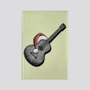 Acoustic Santa Rectangle Magnet