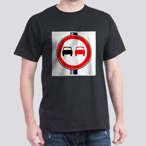 No Overtaking Traffic Sign T-Shirt