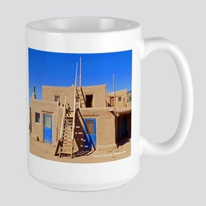 Taos Blue Doors And Ladders Large Mug Mugs