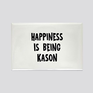 Happiness is being Kason Rectangle Magnet