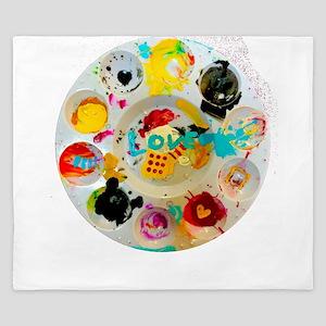 Artsy Artist Paint Palette - Love Art King Duvet