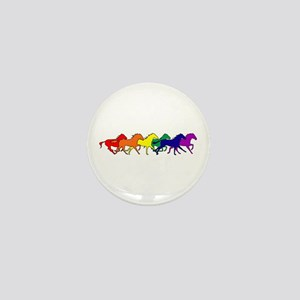 Horses Running Wild Mini Button