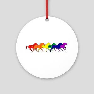 Horses Running Wild Ornament (Round)