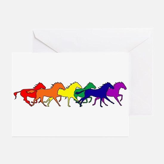 Horses Running Wild Greeting Cards (Pk of 10)