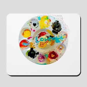 Artsy Artist Paint Palette - Love Art - Mousepad