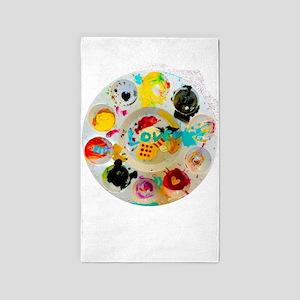 Artsy Artist Paint Palette - Love Art - Area Rug