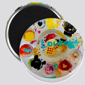 Artsy Artist Paint Palette - Love Art - C Magnets