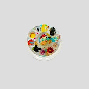 Artsy Artist Paint Palette - Love Art Mini Button
