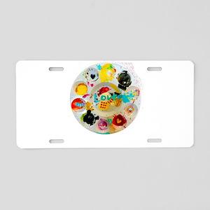 Artsy Artist Paint Palette Aluminum License Plate